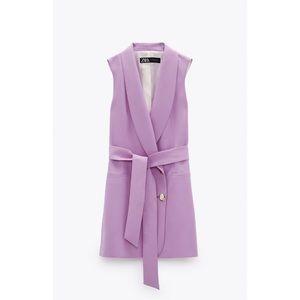 Zara lavender vest